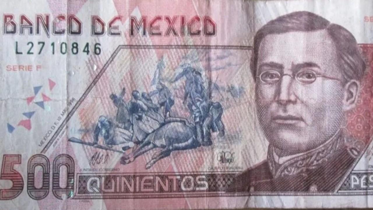 Billetes de 500 pesos que todavía conservan su valor