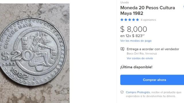 Venta de Moneda de 20 Pesos
