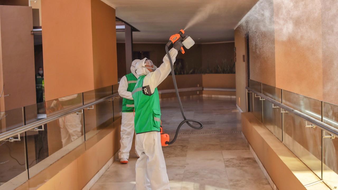 Áreas de limpieza contra covid en hoteles en México (Imagen: Xcaret)