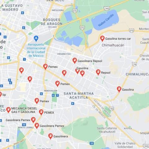 Obtener gasolina barata gracias a Google Maps (Imagen: Google Maps)
