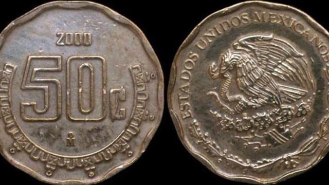 Moneda de 50 centavos se vende en casi 11 mil pesos