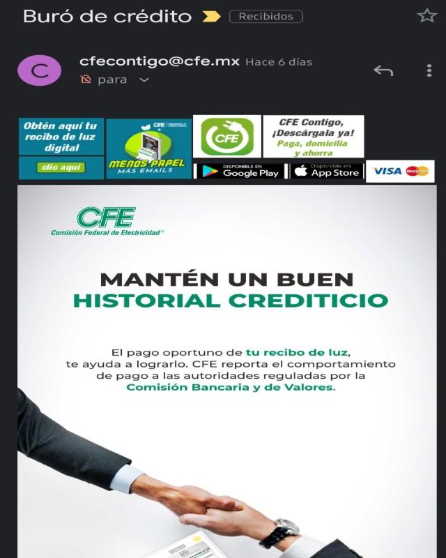 """Usuarios califican como """"amenaza"""" estos correos electrónicos de la CFE"""