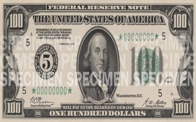 Este es el anverso del billete de 100 dólares que se vende en casi 3 mil pesos