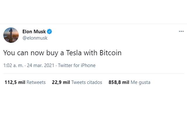 Anuncio de pago con Bitcoin