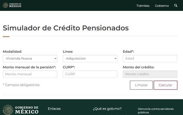 Simulador de crédito para pensionados