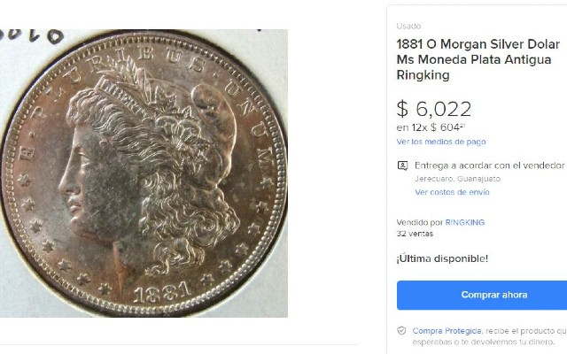 Así es el anverso del Morgan Dollar