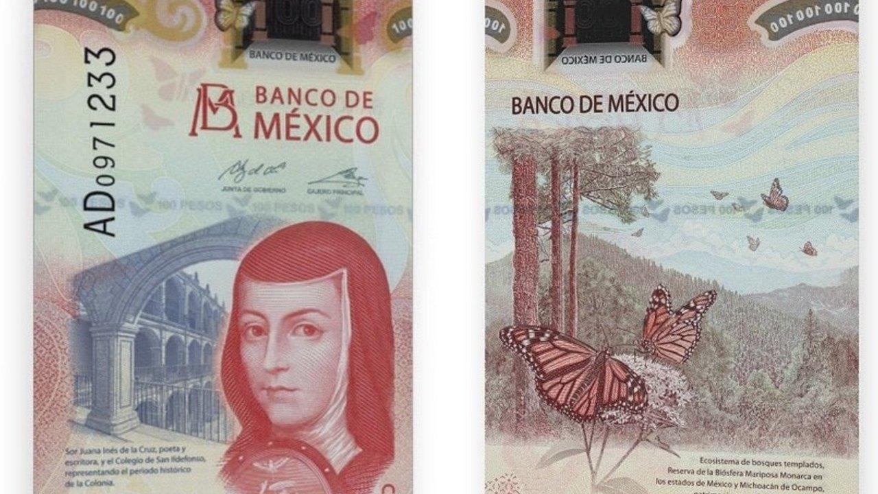 Billete de 100 pesos es catalogado el mejor del 2020