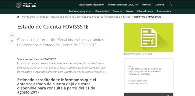 Consulta Fovissste
