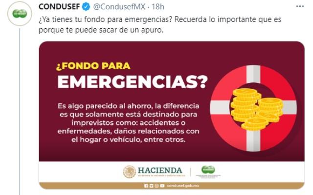 La Condusef compartió la información en redes sociales