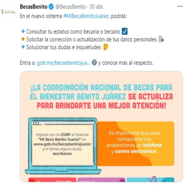 Así dio a conocer la CNBBBJ la información sobre el nuevo sistema Mi Beca Benito Juárez