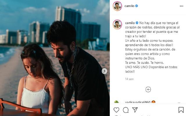 Camilo y Evaluna comparten su pasión por la música