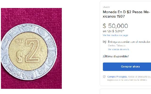 En la publicación están disponibles más fotos para ver la moneda a detalle