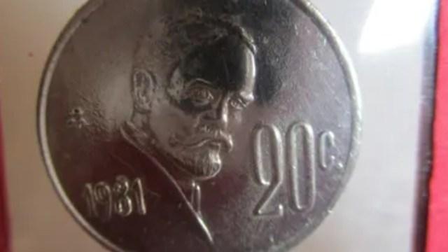 Esta moneda de 20 centavos con la imagen de Francisco I. Madero cuesta más de 50 mil pesos
