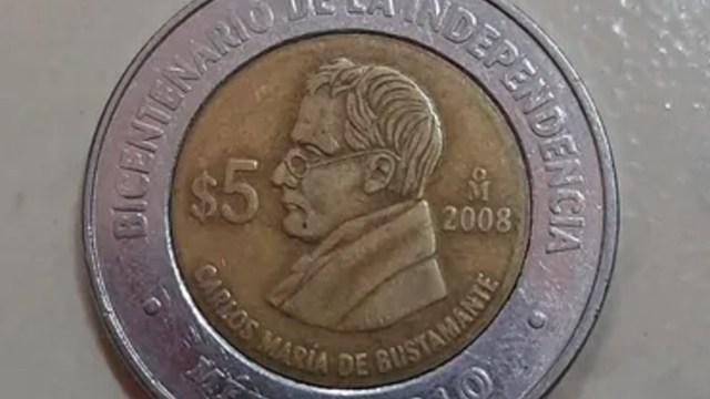 Esta moneda de 5 pesos se vende en 50 mil pesos