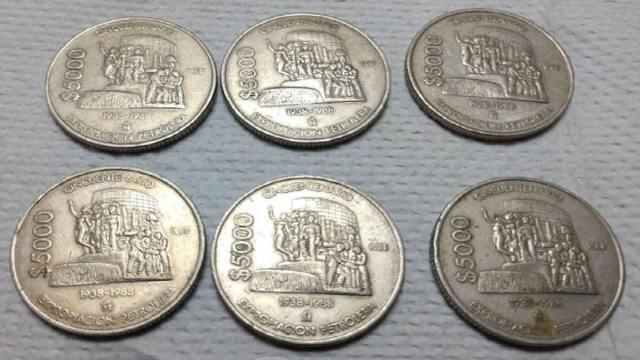 Esta moneda de 1988 con la imagen de la Fuente de Petróleos se cotiza en línea en 40 mil pesos