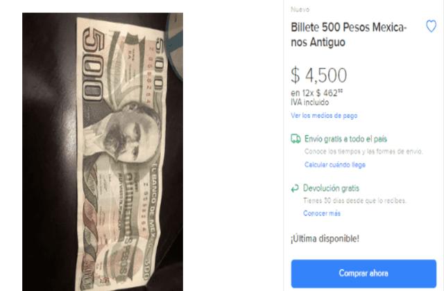 billete de 500 pesos de Francisco I. Madero en cuánto lo puedo vender