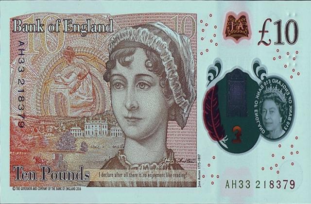 billete de Jane Austen