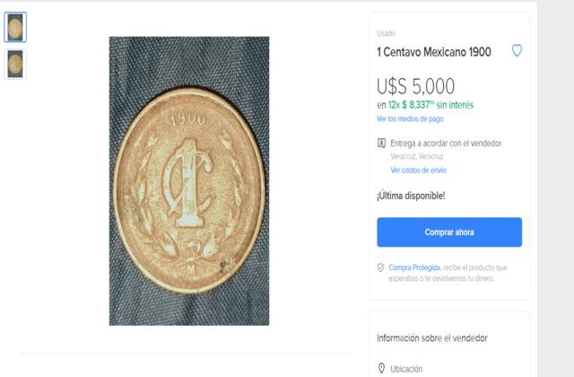 monedas más caras de méxico