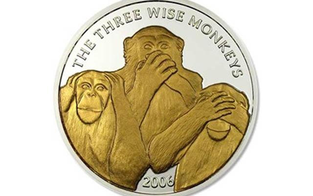 En una moneda de plata bonita