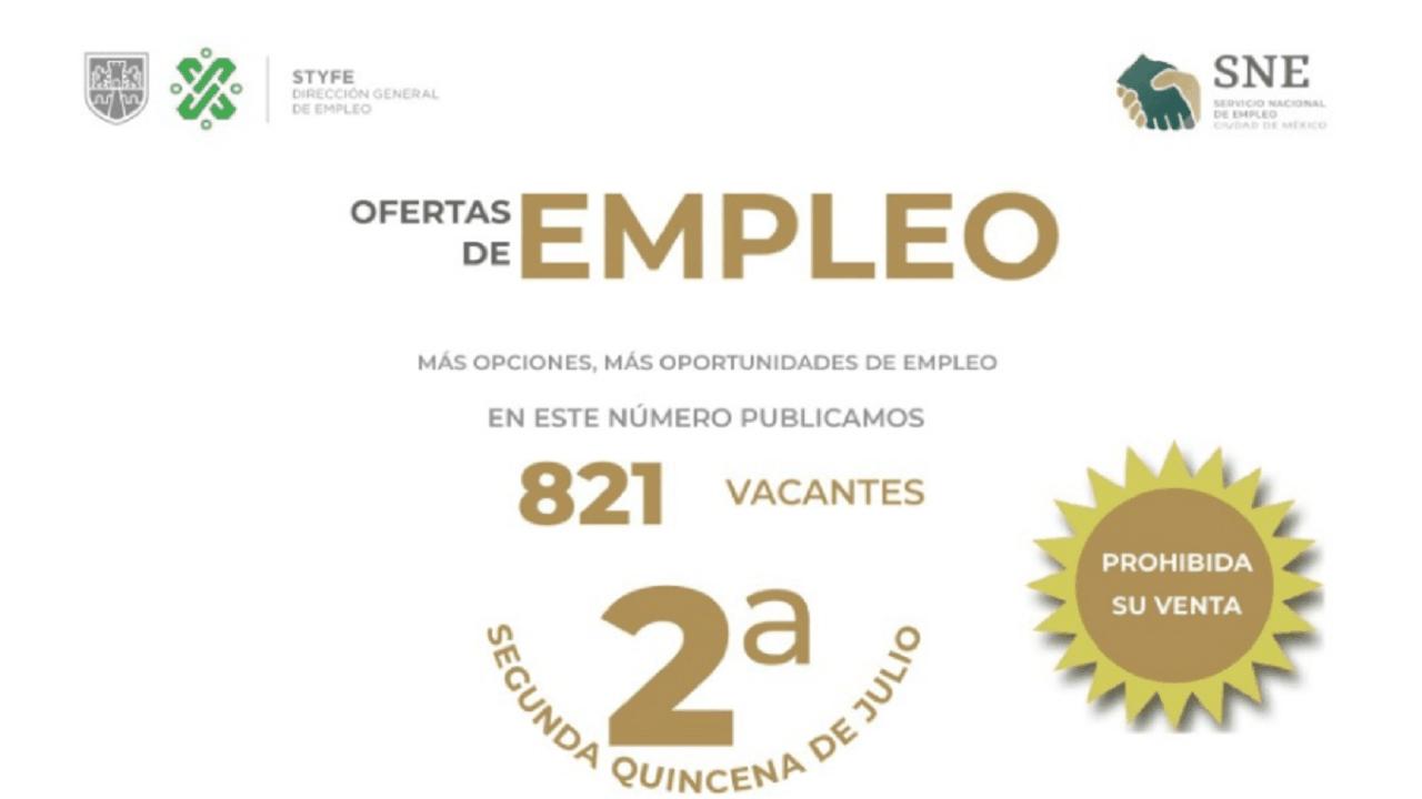 En la publicación de la SNE puedes encontrar más de 800 vacantes en la CDMX