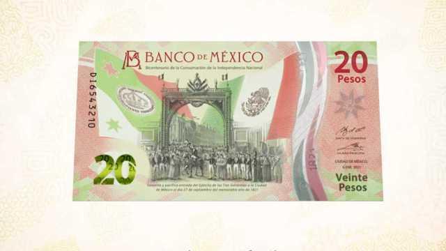 Banxico pone en circulación el Nuevo Billete de 20 pesos
