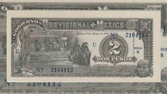 Este billete se emitió durante la revolución