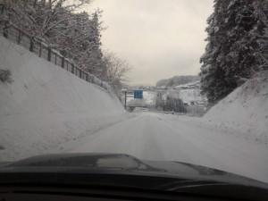 白馬オリンピック道路小川村付近