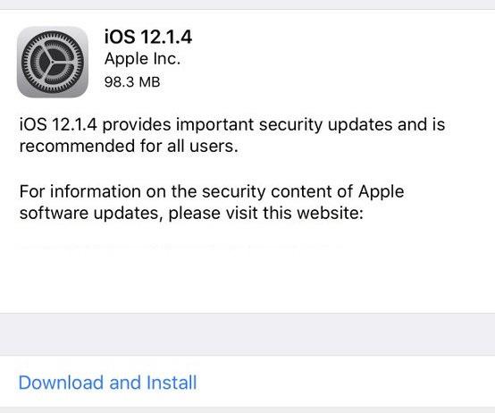 ios 12.1.4 update download