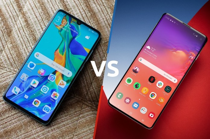 Huawei P30 Pro and Samsung Galaxy S10 Plus