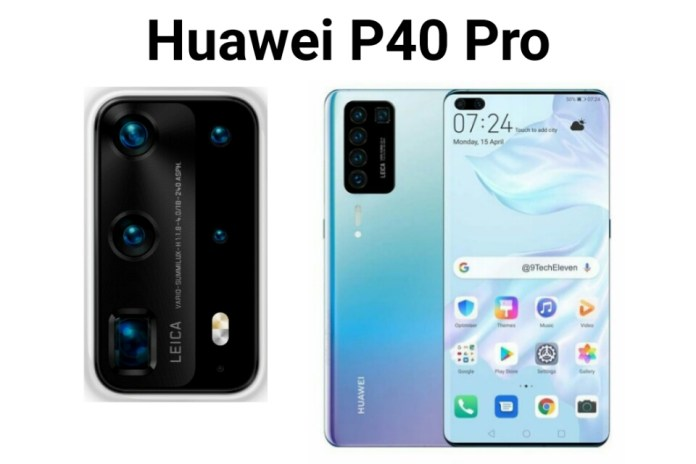 Huawei P40 and P40 Pro smartphone