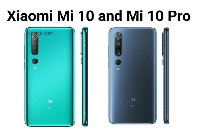 Xiaomi Mi 10 vs 10 Pro Smartphones