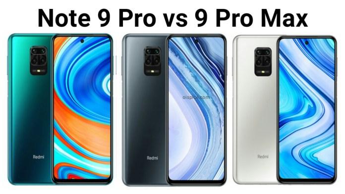 Xiaomi Redmi Note 9 Pro vs 9 Pro Max Smartphone