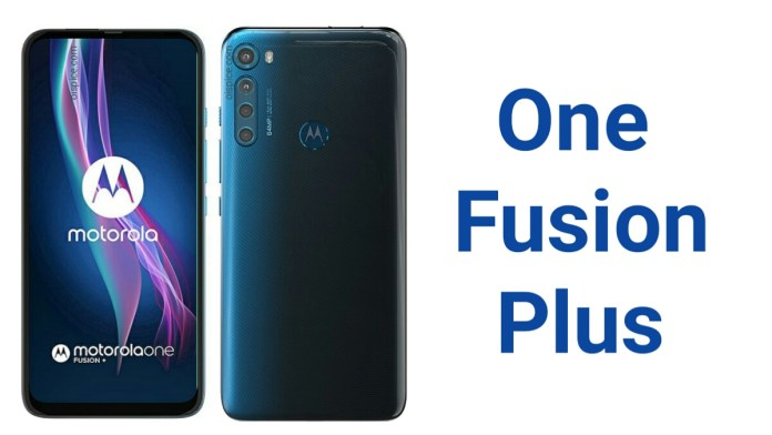 Motorola One Fusion Plus Specifications Price Pros and Cons