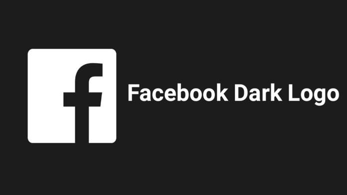 facebook dark logo