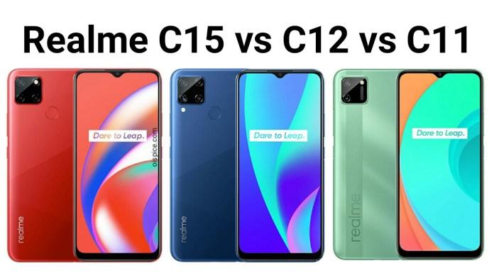 Realme C15 vs Realme C12 vs Realme C11