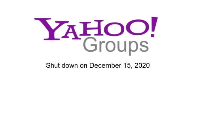 shut down yahoo groups