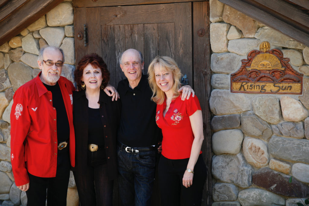 Roger and Jorjana Kellaway with Visions of America collaborator Joe Sohm and his wife Leslie.