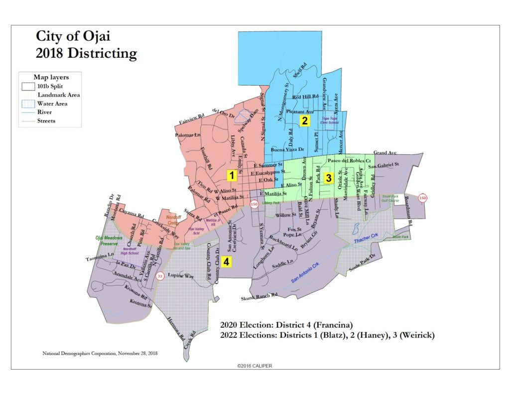 Ojai's voting districts
