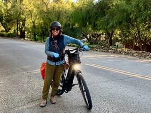 G Lev Baumel with electric bike