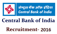 Central Bank of India Recruitment 2016