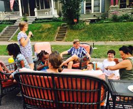 A block party is therapeutic after tragedy