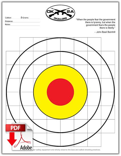 8x11 Printable Shooting Targets