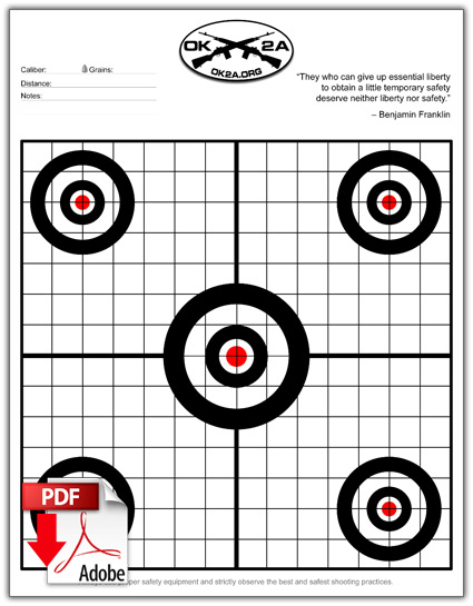 printable shooting targets oklahoma