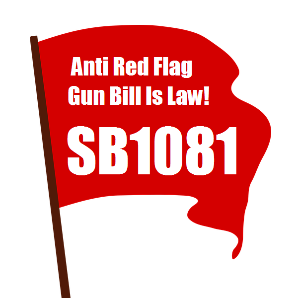 Red Flag with State Bill 1081 on it
