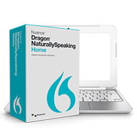 Computer running Dragon NaturallySpeaking software