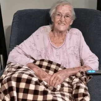91-year-old woman in lift chair