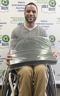 M Brown suffered a spinal cord injury and the cushion will really help him feel more comfortable