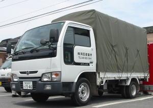金属塗装・焼付塗装の岡田塗装所 納品・引取りトラック