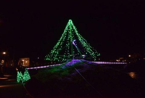 天ヶ瀬温泉クリスマスイルミネーション(12月8日)