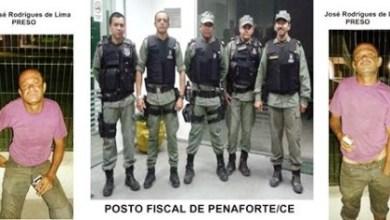 Foto de PM prende homem furtando cargas de caminhões no posto fiscal de Penaforte-CE